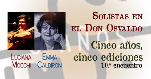 Nueva función de solistas en el Don Osvaldo